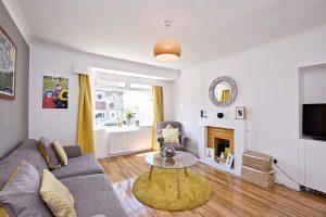 Sparkling clean living room